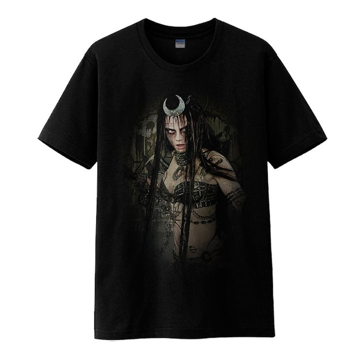 2016 Movie Suicide Squad June Enchantress Cosplay Cotton O-Neck Print Black Mens Casual Short Sleeve T-Shirts Shirts Clothing