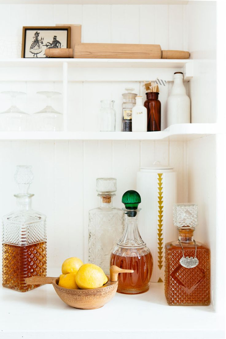 bar styling // decanters