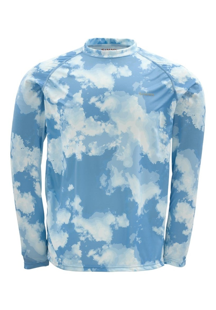 Solarflex ls shirt print blue cloud camo new for for 13 fishing apparel
