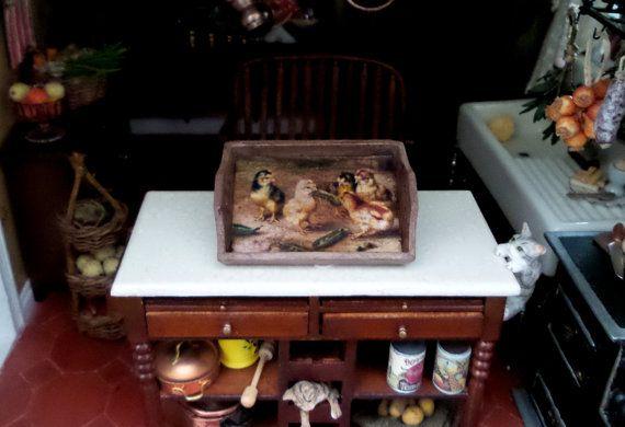 Accessoire cuisine plateau en bois avec poussins par MadeInEven
