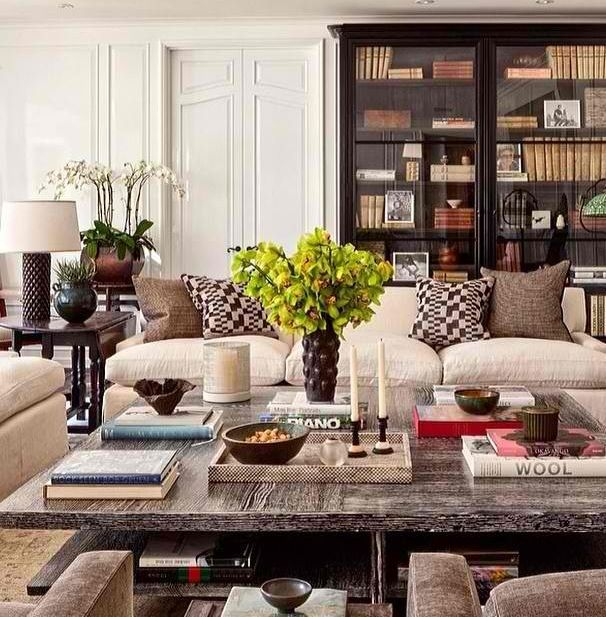 Square coffee table decorating ideas