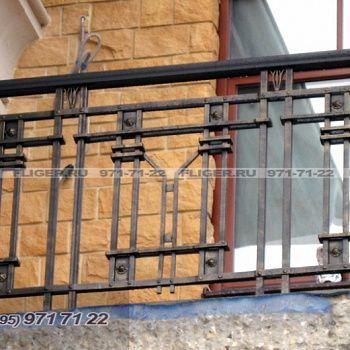 Кованое балконное ограждение 074