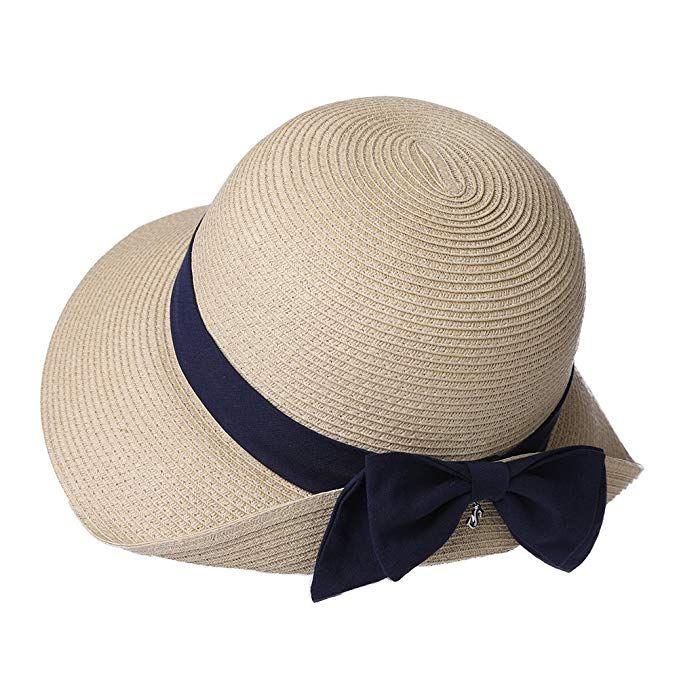 Packable Upf Straw Sunhat Women Summer Beach Travel Hat Ventilated W Chin Strap Review Sun Hats Womens Straw Hats Travel Hat