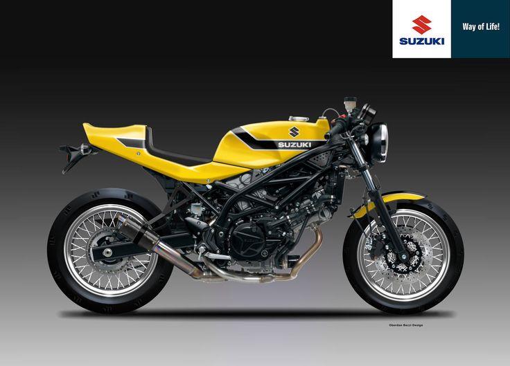 Motosketches: SUZUKI SV 650 CR & SC YELLOW WEAPON SERIES - Oberdan Bezzi Design