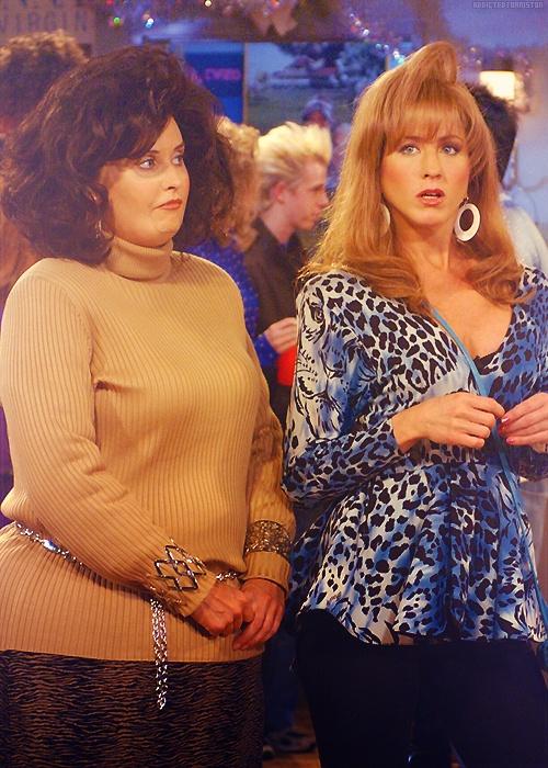 Old Monica and Rachel