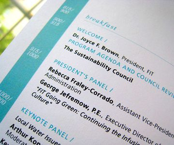 how to create an event program booklet