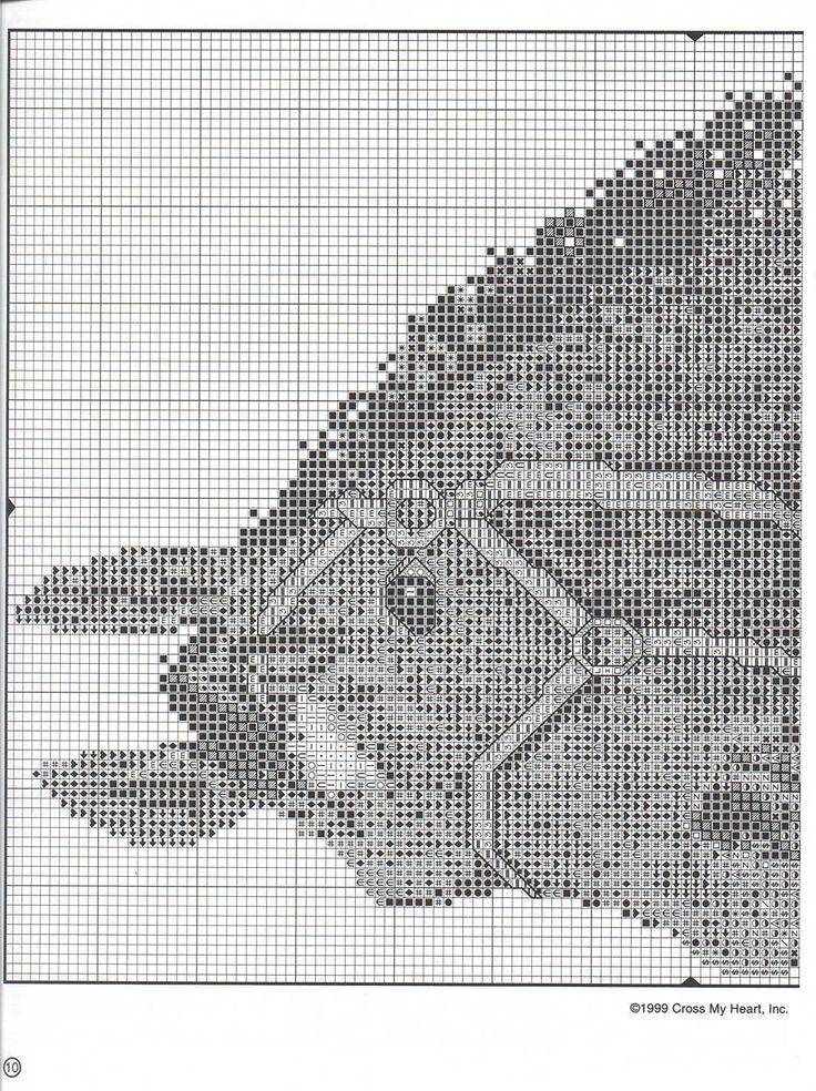 Schematic cross stitch Horses 07