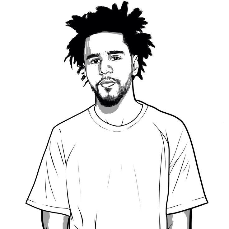 J Cole Coloring Pages In 2020 J Cole Art J Cole Drawing J Cole