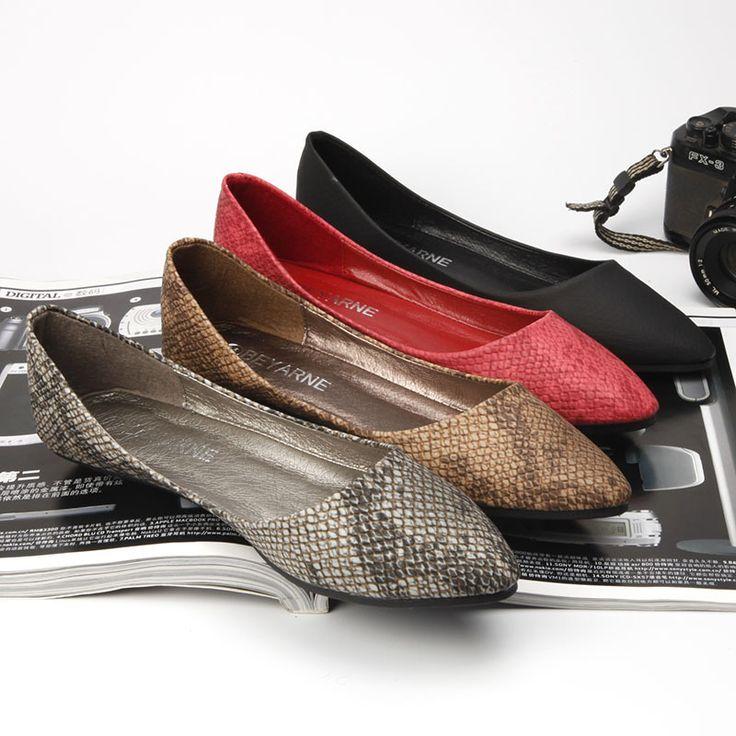 Мода Квартиры для женщин мода серпантин шаблон тиснением лодка обуви ковш обувь мелкая рот острым носом обувь женская квартиры