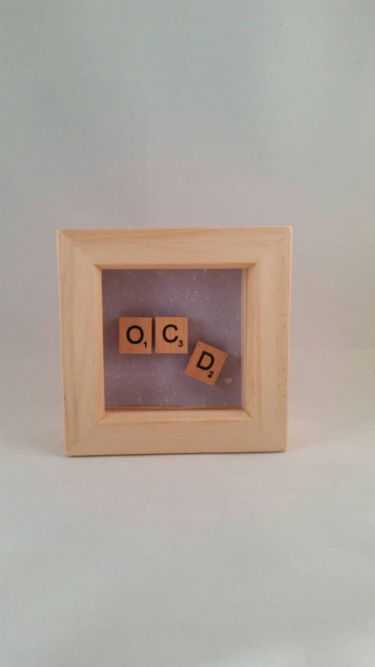 Fun frame / OCD / Fun gift / Christmas gift / birthday gift / unique gift / scrabble art / small frame - pinned by pin4etsy.com