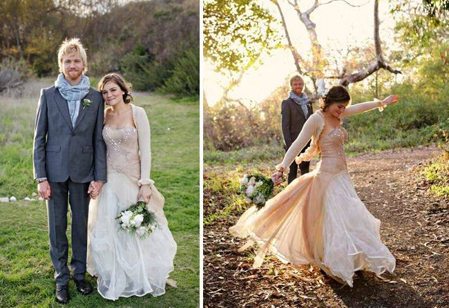 Sweaters with your dress for a fall wedding for just a cool evening reception.