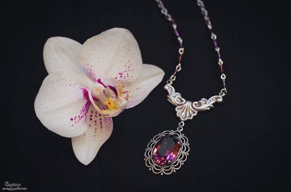 Josephine Necklace  Gothic Necklace  Swarovski by VictoriaEquinox