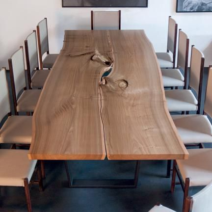 """Urban Hardwoods Furniture The """"live"""" edge detail is interesting but may not be easy to live with."""