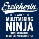 Erzieherin mit Liebe Frauen Bio-T-Shirt mit V-Ausschnitt von Stanley & Stella – Schwarz