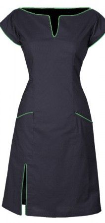 Black dress - made from organic cotton - flexible - The dress has pockets - A nice summer dress and party dress.
