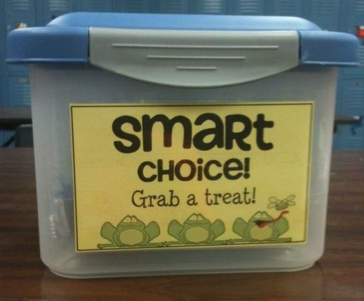 When students make a smart choice reward them