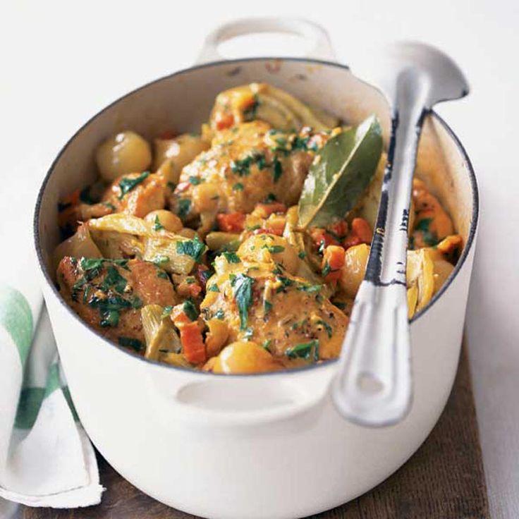 Fragrant chicken stew. A comforting chicken stew to make a big batch ...