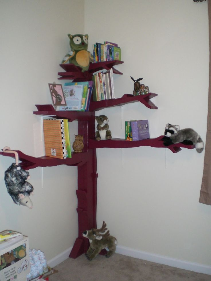 Best Kids Room Images On Pinterest Tree Bookshelf - Corner tree bookshelf