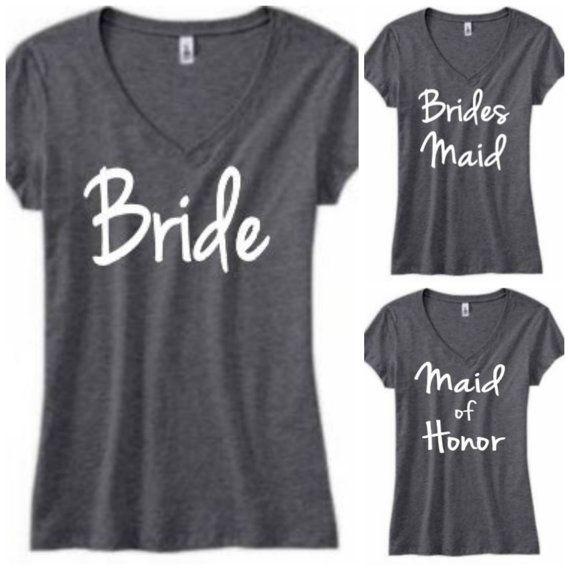 Maid of Honor V-Neck Bridesmaid V-Neck by BridalBlissCouture