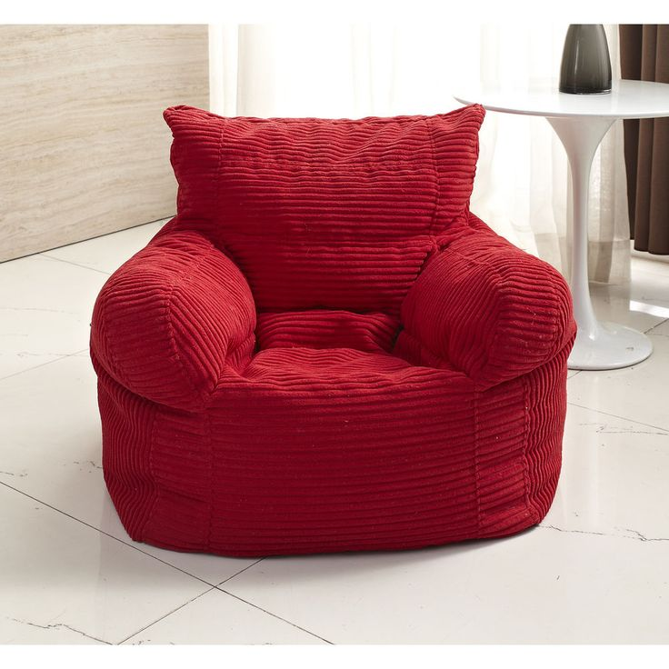 The Bean Bag Chair has all of the comfort and excitement of a traditional bean bag combined with handy features that set it apart from the original. This bean bag gives you both back support and arm rests. | eBay!
