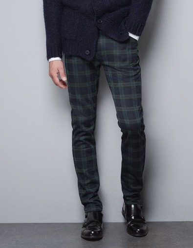 SO RAD! Skinny check trousers! Awesome purchase for fall and winter. Take plaid up a notch with these. $59