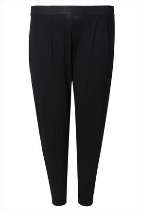 £16 Black jersey hareem trousers