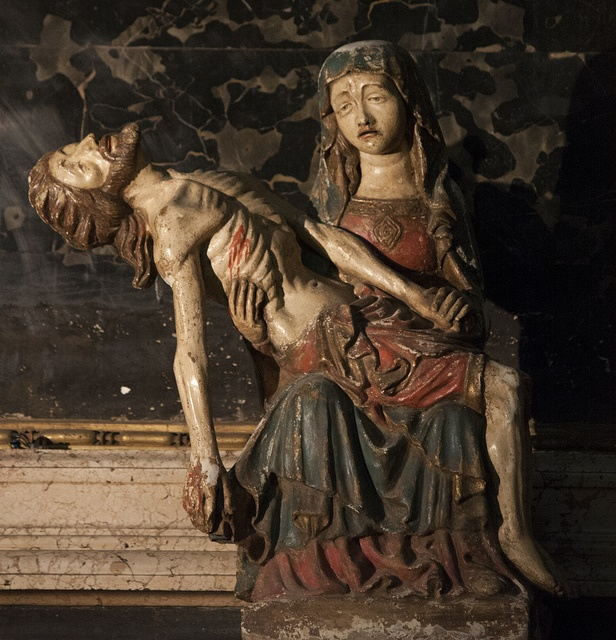 This medieval Pieta is in the church of Sant' Agostino in Rome.