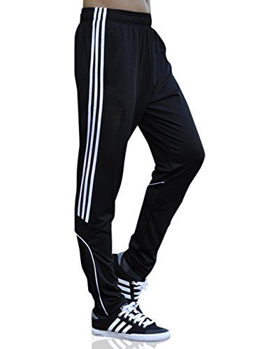 Geek Lighting Joggers Pants For Men Light Weight Soccer Training Open Bottom Jersey (US X-Small/Label Large White)