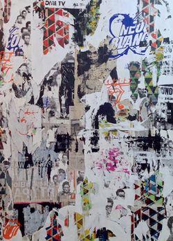 """""""Po przejściu czarny, nigdy nie wrócisz"""", technika mieszana na płótnie, 230x190cm, 2013"""