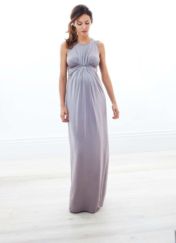Opal Gray Maternity Gown from Isabella Oliver - THIS is how to dress your bump for a black tie affair. So chic! #maternity