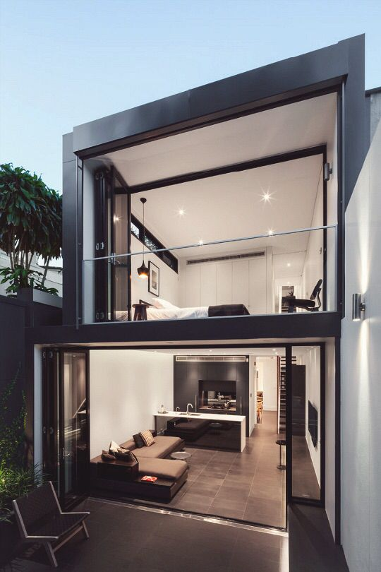 Ultra Modern House Design For Narrow Lots