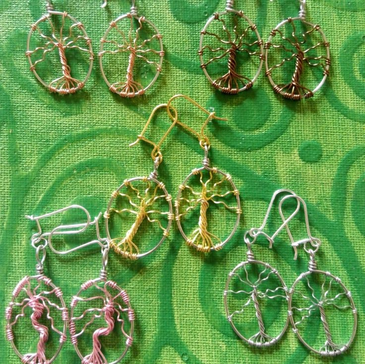 Silver tree of life earrings. hand made in Ireland. by terramor on Etsy