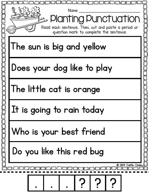 Punctuation activity