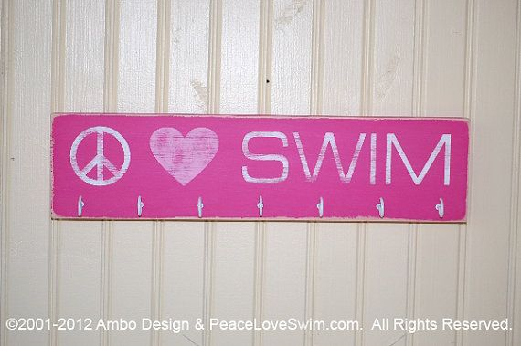 Swimming Ribbon Display Rack Sign - Customization & Personalization Available on Etsy, $21.00