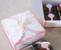 FREE SHIPPING Pink  cake boxes and packaging for wedding gift boxes food package  14.5*14.5*4.5cm