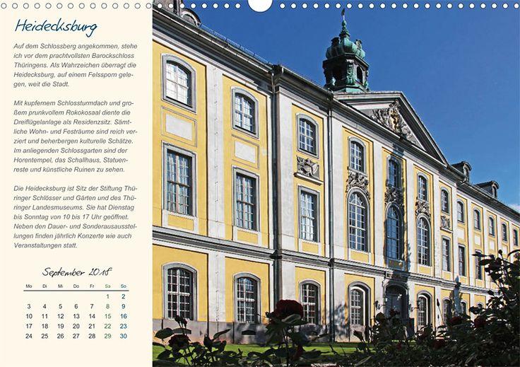 """Städte- und Regionalkalender """"Rudolstadt – mein Spaziergang durch den historische Stadtkern"""", Kalenderblatt September: Heidecksburg"""