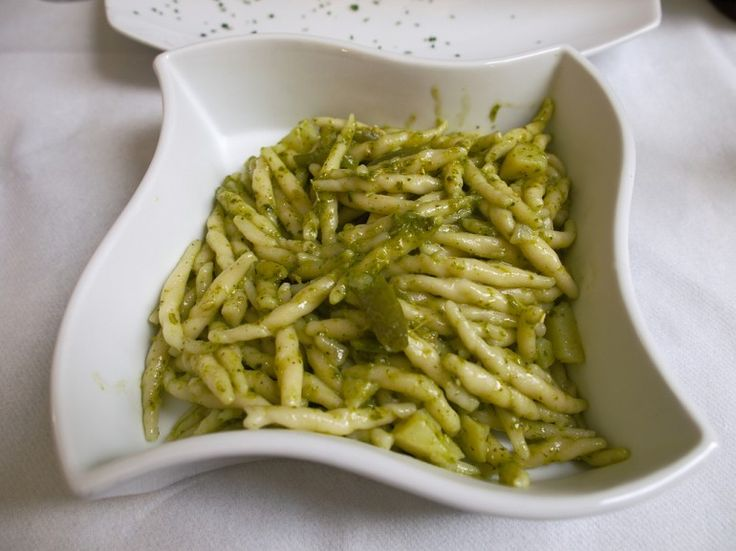 Trofie with #pesto is a typical dish of #Genoa, #Italy - Ecobnb.com