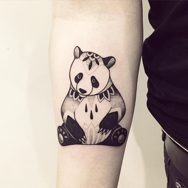 Un grand merci Léo :) #panda #cute #tattoo #violette #bleunoir #bleunoirtattoo…