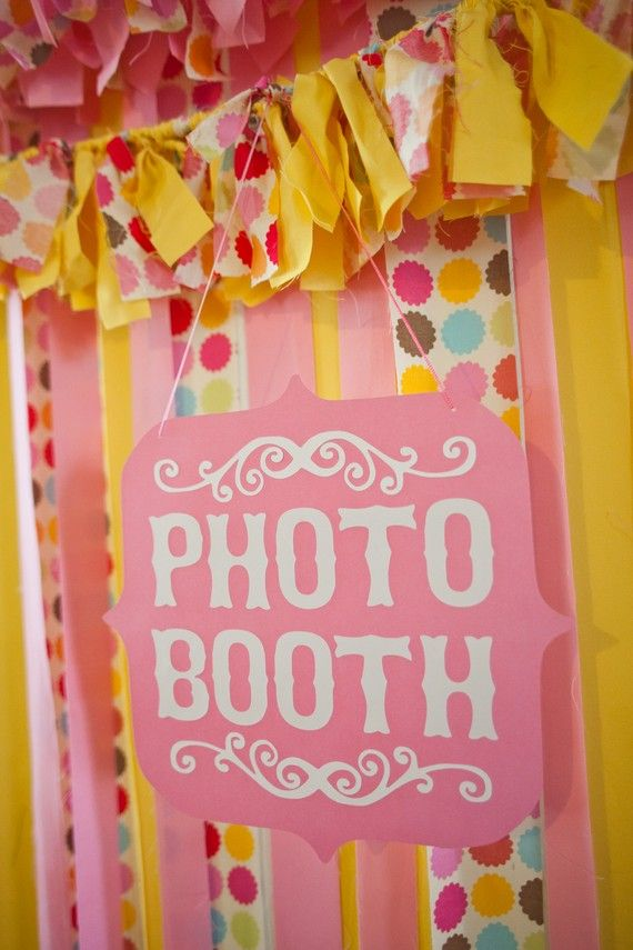 Pink and White Photo Booth Sign Custom Colors by sarahQhappybooths, $15.00