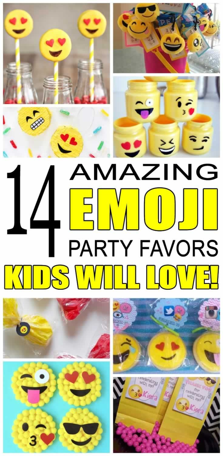 Celebrating with an Emoji Party? Looking for party favor ideas? Find some of the best Emoji party favor ideas.