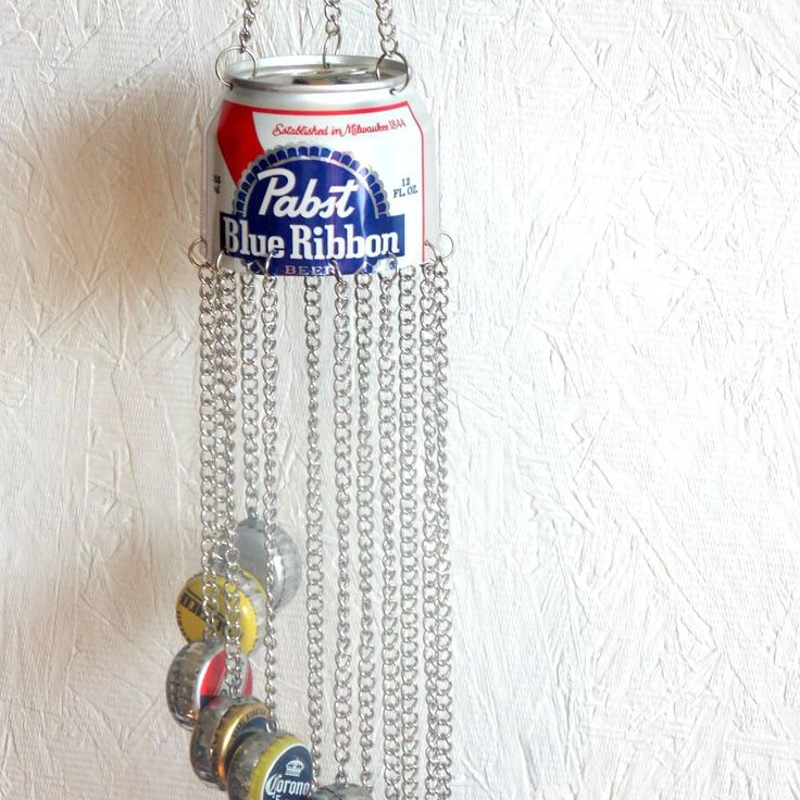 Beer Bottle Cap Windchime 3 by ReaghansRose on Etsy