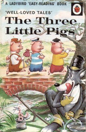 THE THREE LITTLE PIGS Ladybird Book Well Loved Tales Series 606D Matt Hardback 1975