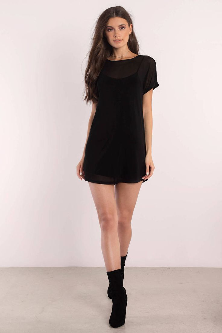 Cassidy Black Shift Dress