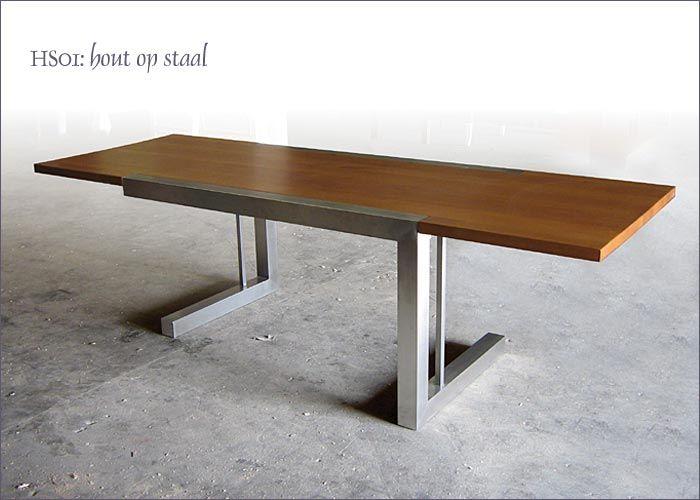 deze tafel vind ik erg leuk door de combinatie van hout en