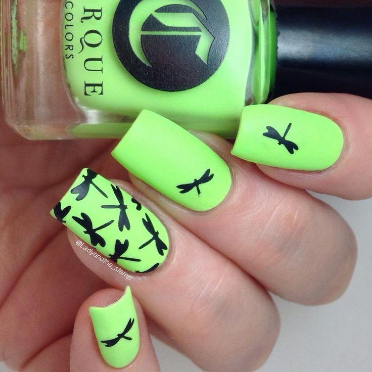 14 best Dragonfly nails images on Pinterest | Arte de uñas de ...