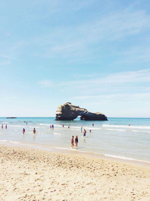 Souvenirs d'enfance.. La Plage du Miramar   Biarritz, France