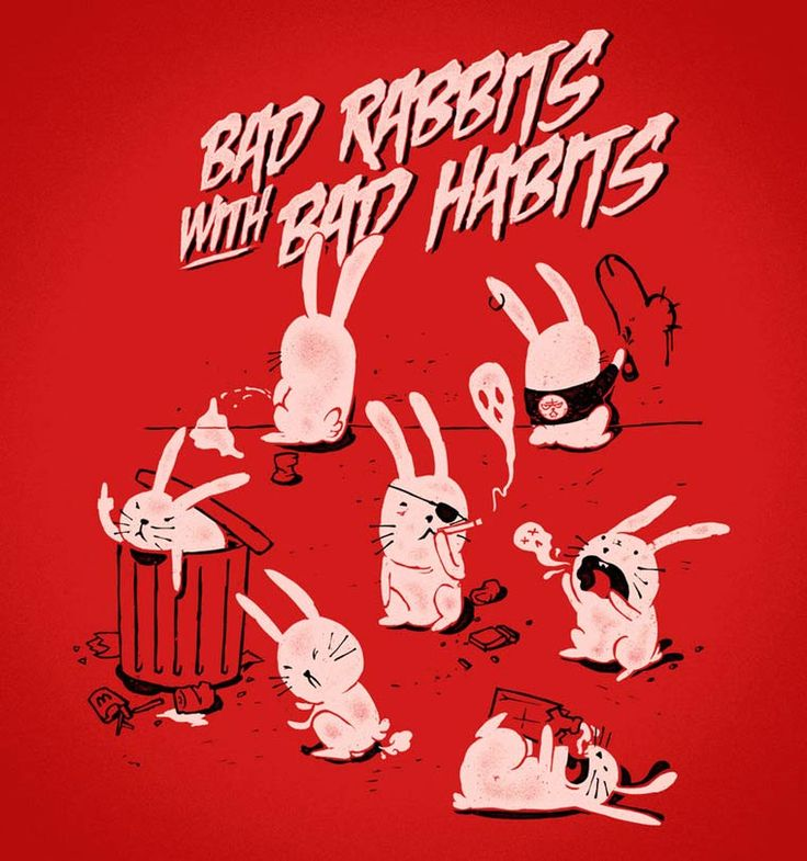 'Bad rabbits with bad habbits' , made by: Matheus Lopes Castro - illustrations