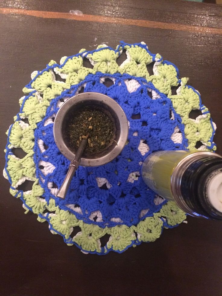 Mandala tejido - Crochet