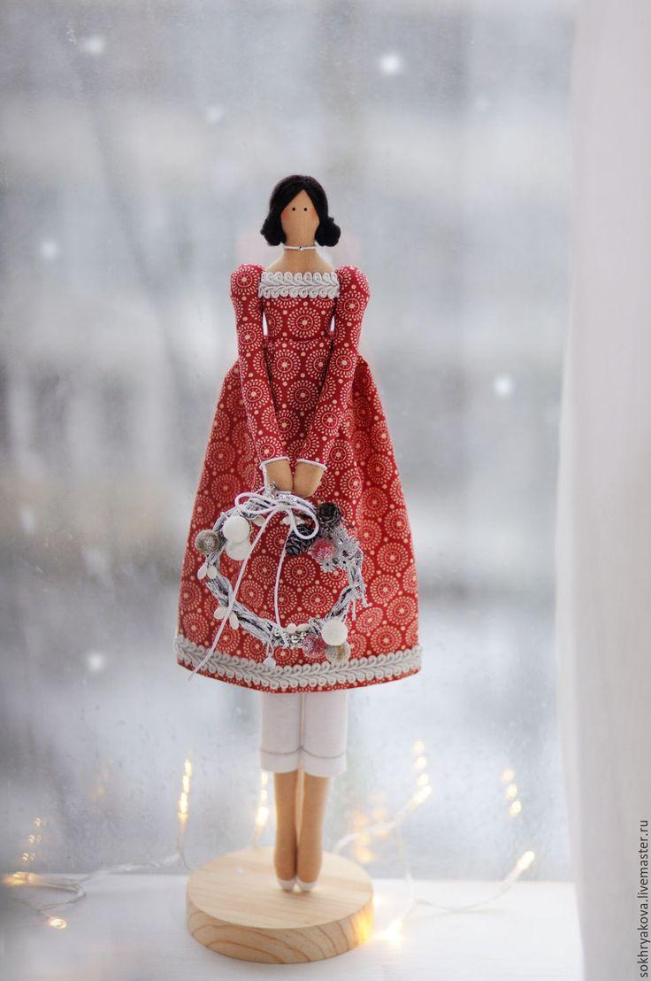 Купить Винтажный ангел в стиле Тильда. - комбинированный, тильда, кукла, кукла Тильда ☆