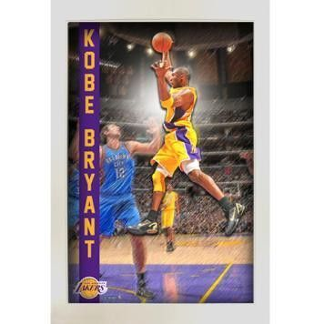 Kobe Bryant Pop Out Framed 20x32 Collage - Ever wanted to feel like your apart of the action? Here is your opportunity with this framed 3D action photograph of your favorite player. The actual image of Kobe Bryant is mounted higher than the rest of the photograph which truly makes this piece 3-dimensional. The item comes framed in a shallow shadowbox that measures 20x32 and is a must own for any Lakers fan!. Gifts > Licensed Gifts > Nba > Los Angeles Lakers. Weight: 6.00